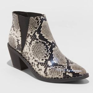Universal Thread Faux Leather Snake Bootie